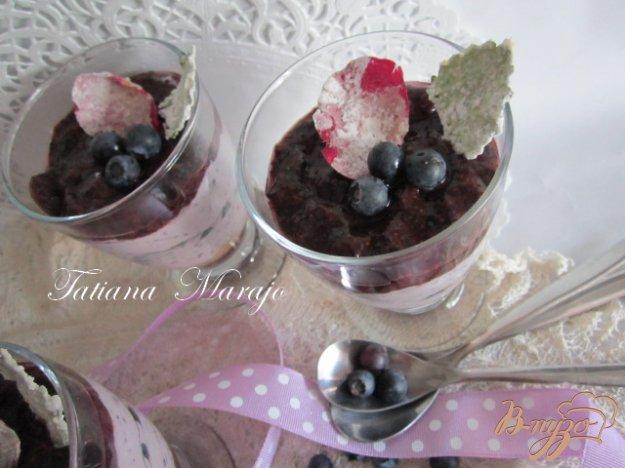 Рецепт Чернично-творожный десерт