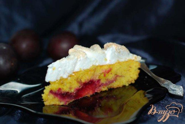 Фото приготовление рецепта: Сливовый пирог