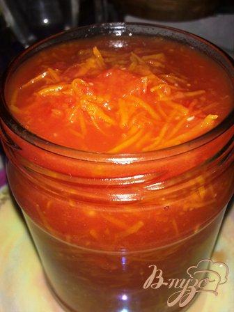 Томатная приправа с морковью и чесноком