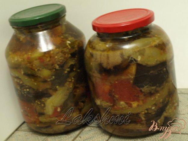 фото рецепта: Закуска из баклажанов,перца и помидор