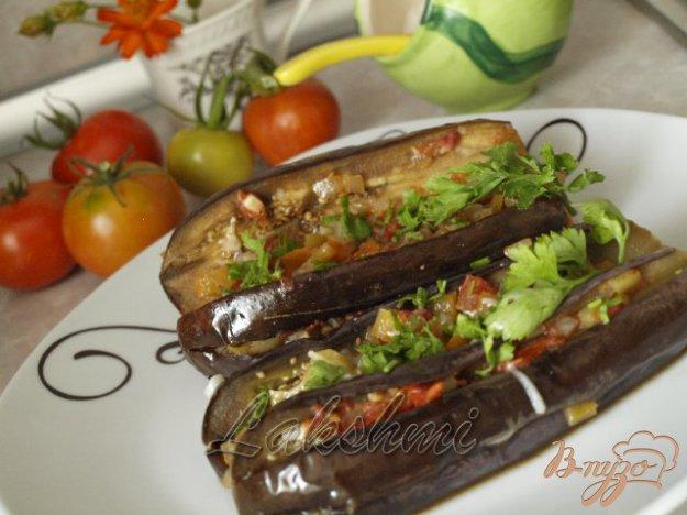 Рецепт Баклажаны фаршированные овощами