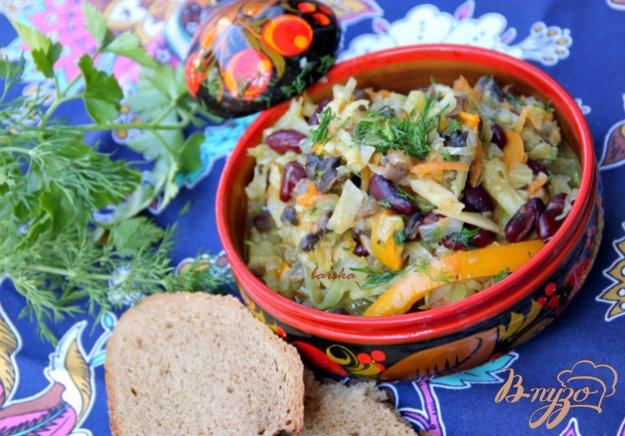 Рецепт Овощное рагу с грибами и фасолью