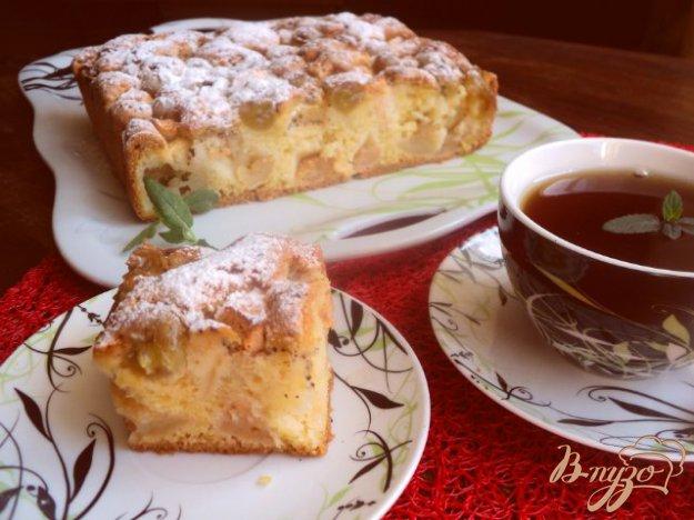 Рецепт Яблочно- виноградный пирог