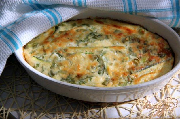 Рецепт Запечённый омлет с творогом, зеленью и кабачками