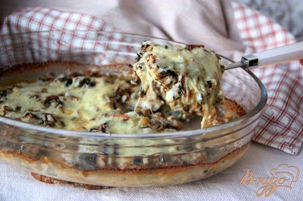 Рецепт Камбала, запечённая под грибной шапочкой