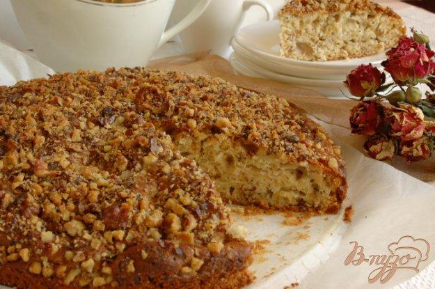Рецепт Пирог медовый с маком, яблоками и орехами