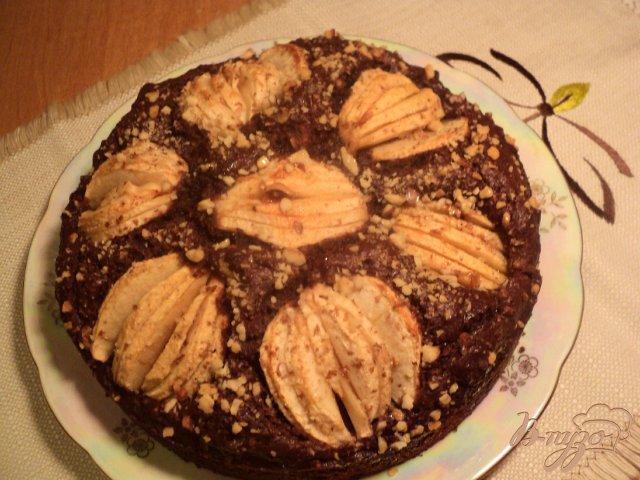 Фото приготовление рецепта: Пирог « Яблоки в шоколаде» шаг №5