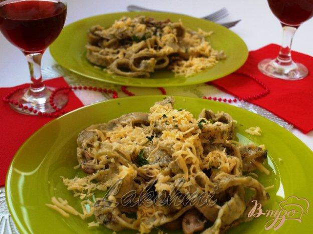 Рецепт Домашние папарделли с грибным соусом