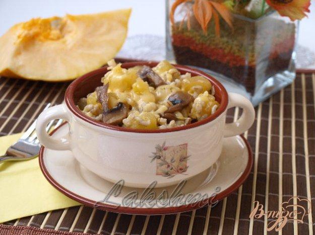 фото рецепта: Орзотто с шампиньонами и тыквой