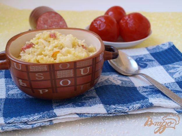 Рецепт Пшеная каша с квашеной капустой