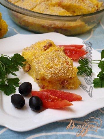 Картофельная запеканка по-гречески.