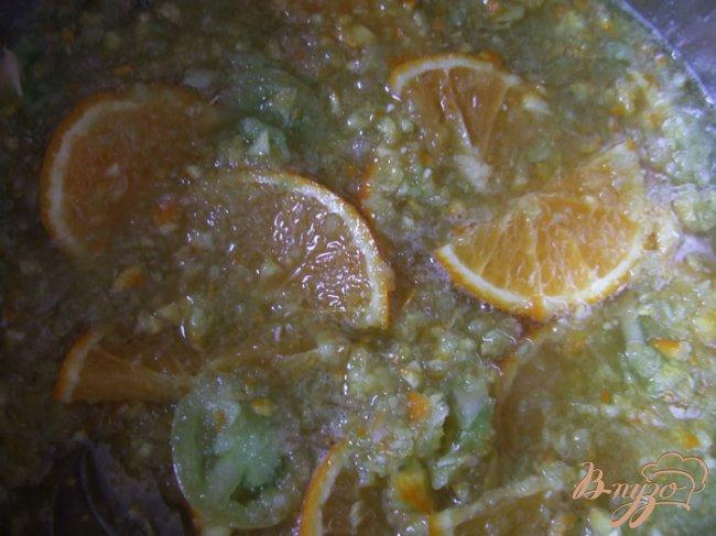 Фото приготовление рецепта: Джем из зеленых помидоров с апельсинами шаг №3