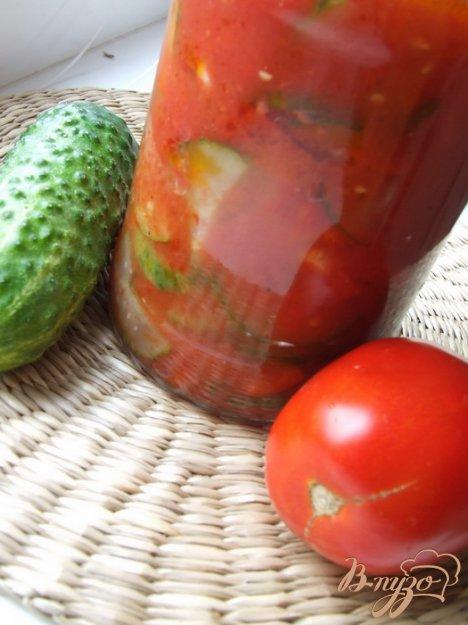 Рецепт Салат из огурцов в томате