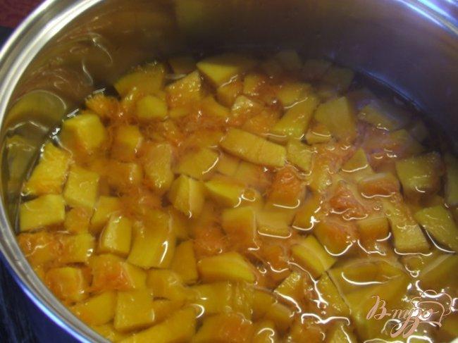 Фото приготовление рецепта: Тыквенный салат к мясу (маринованная тыква) шаг №3