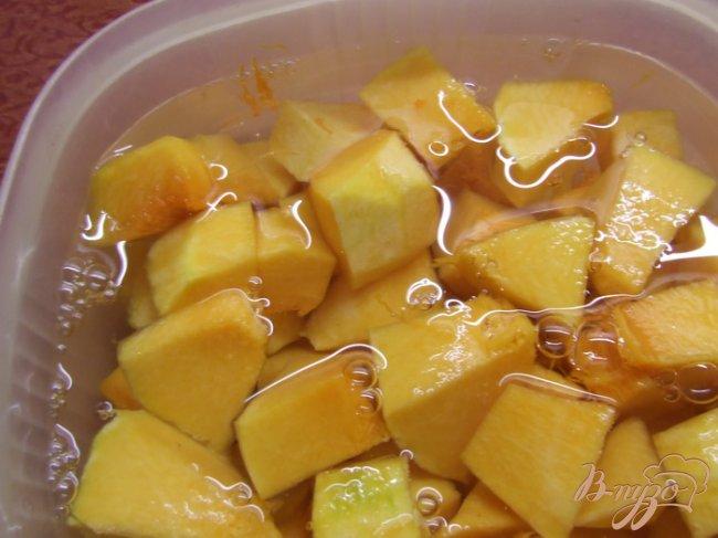 Фото приготовление рецепта: Тыквенный салат к мясу (маринованная тыква) шаг №1