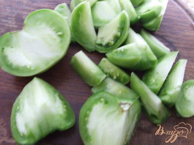 Фото приготовление рецепта: Салат из зеленых помидоров шаг №1