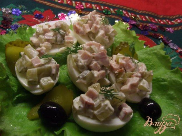 "Рецепт ""Пестрые конфетти"" (яйца с салатом)"