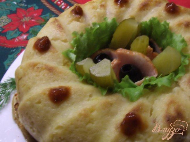 Фото приготовление рецепта: Картофельная бабка с грудинкой шаг №4