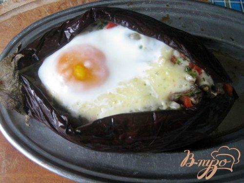 """""""Аджапсандал"""" в баклажане с яйцом."""