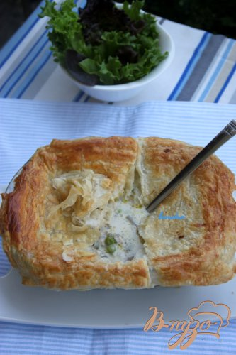 Американский пирог Chicken pot pie