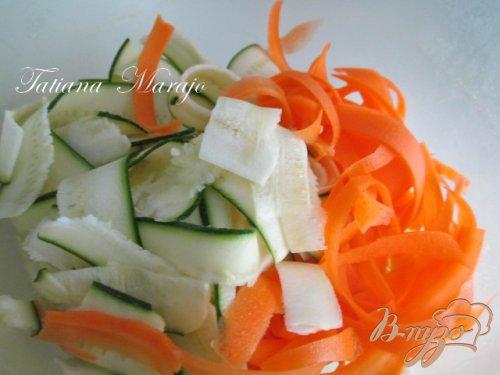 Семга на овощной подушке