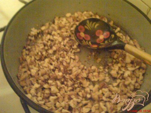 Манник с сиропом и грецкими орехами