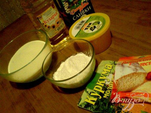 Манный кекс с куркумой мёдом