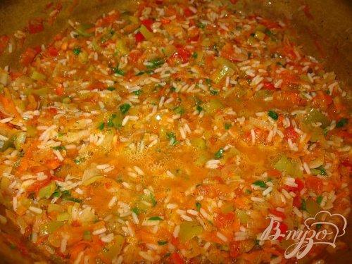 Салат с рисом.