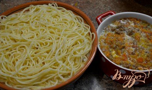 Запеканка из спагетти.