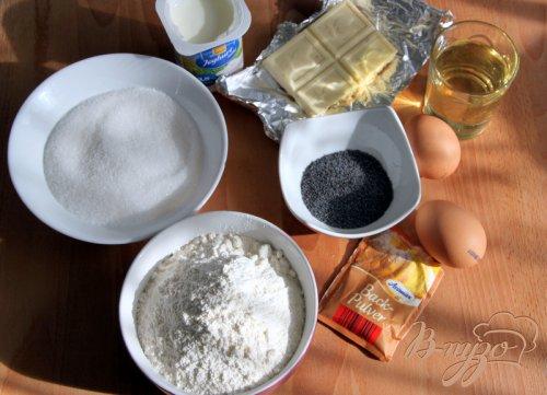 Кексы с черникой, маком и белым шоколадом