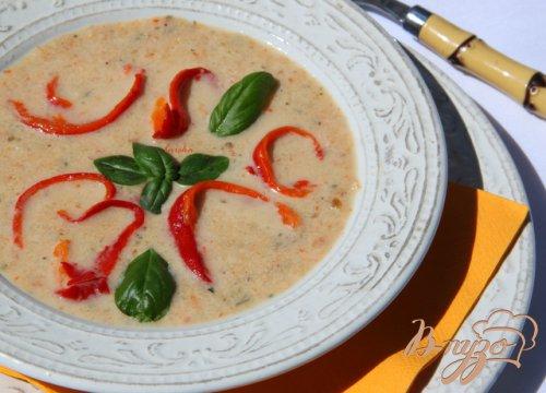Крем-суп из запечёных овощей.