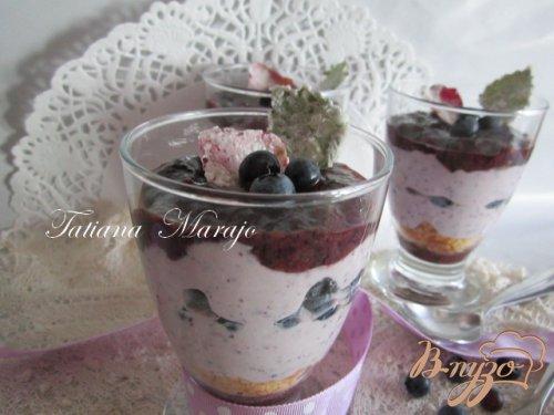 Чернично-творожный десерт