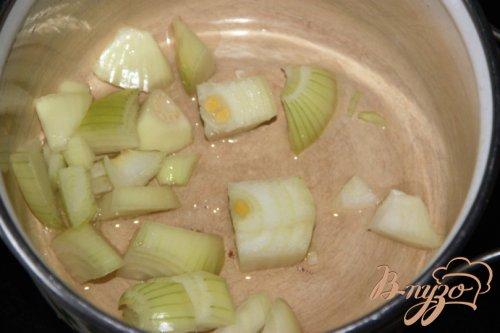 Крем-суп из картофеля и брокколи с сёмгой