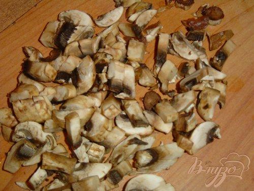 Жареные пельмени с грибами и капустой