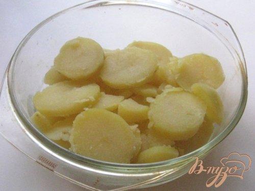 Запеканка из семги с картофелем и шпинатом