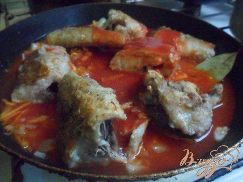 Рыба в томатном соусе по - моему