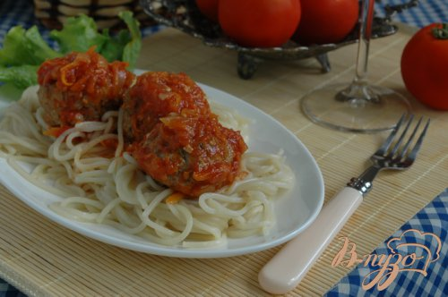 Фрикадельки к спагетти