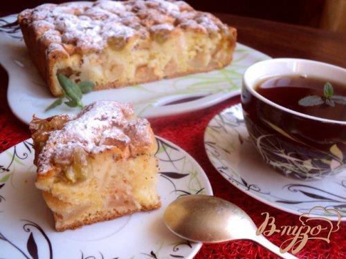 Яблочно- виноградный пирог