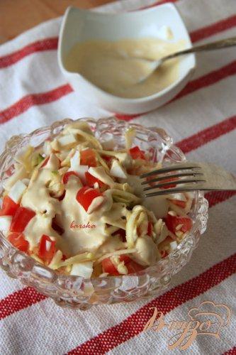 Салат из  свежего кабачка/цукини