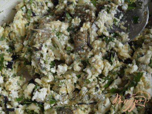 Помидоры фаршированные сырно-баклажановой начинкой