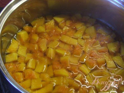 Тыквенный салат к мясу (маринованная тыква)