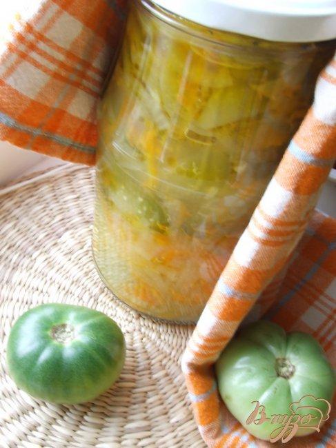 Фото приготовление рецепта: Салат из зеленых помидоров шаг №5