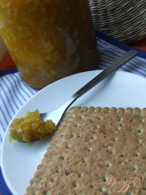 Фото приготовление рецепта: Джем из зеленых помидоров с апельсинами шаг №4
