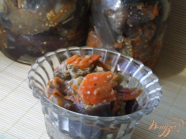 Фото приготовление рецепта: Осень в банке (баклажаны с морковью) шаг №4