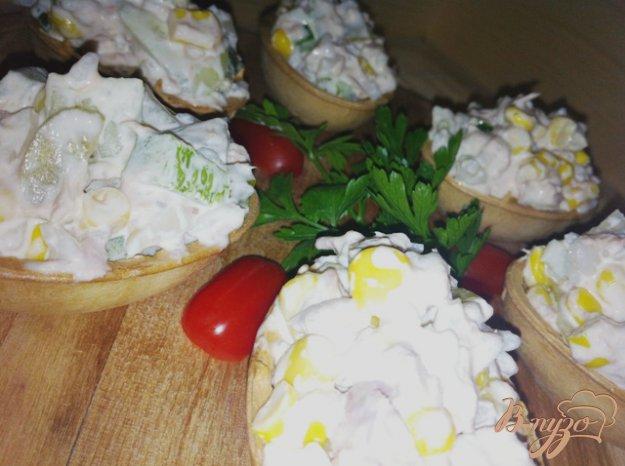 Рецепт Салат с тунцом, рисом и овощами