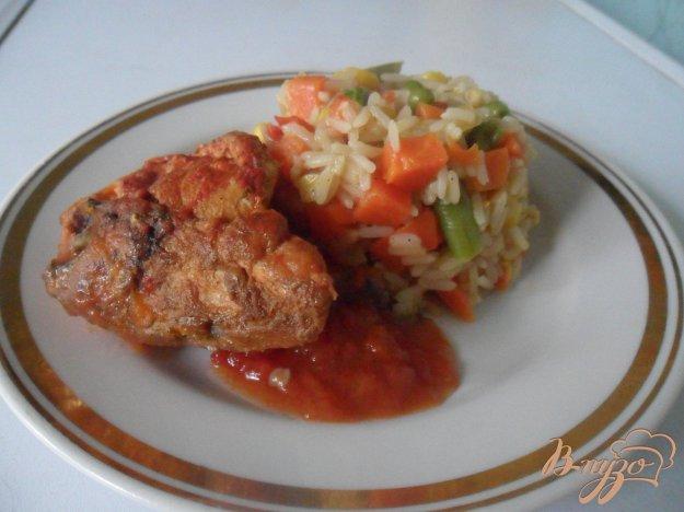 Рецепт Курица в томате с мексиканским рисом