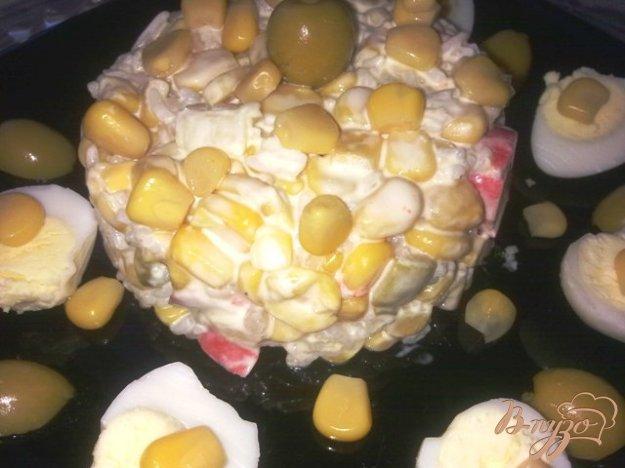 Рецепт Салат с кукурузой, крабовыми палочками и рисом