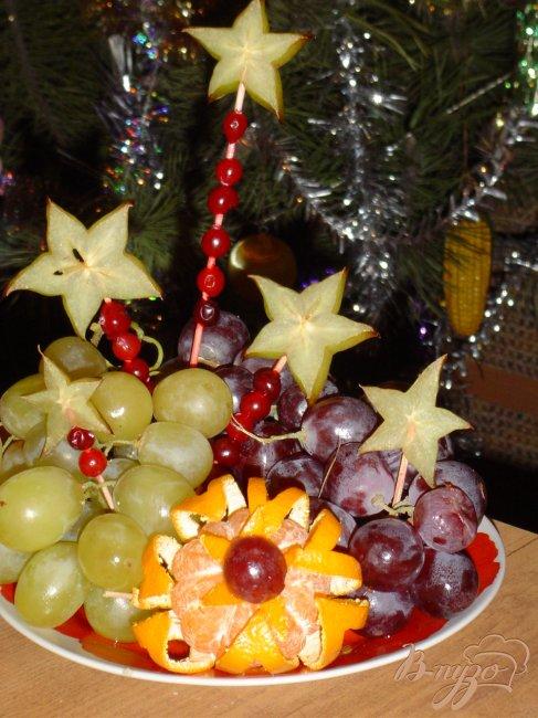 Фото приготовление рецепта: Цветок из мандарина шаг №5