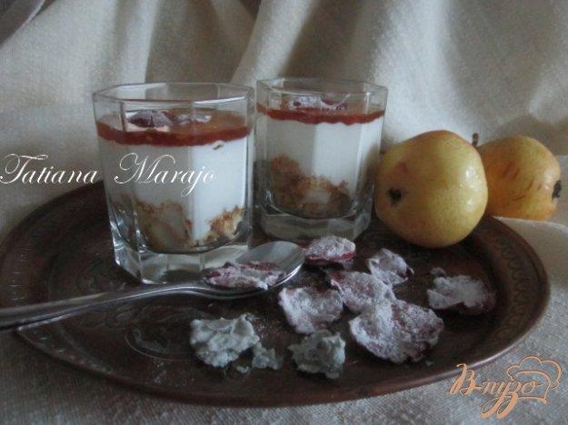 Рецепт Творожный десерт с грушами и медом