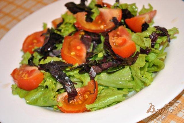 Фото приготовление рецепта: Салат с помидорами и моцарелой шаг №2